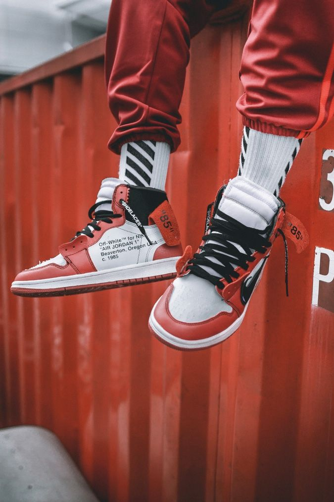 new concept bf9b1 541ac Mens size Nike Off-White Air Jordan 1 Red  OW unauthorized shoes in 2019   Original Nike Off-White  Pinterest  Jordans, Nike shoes und Nike