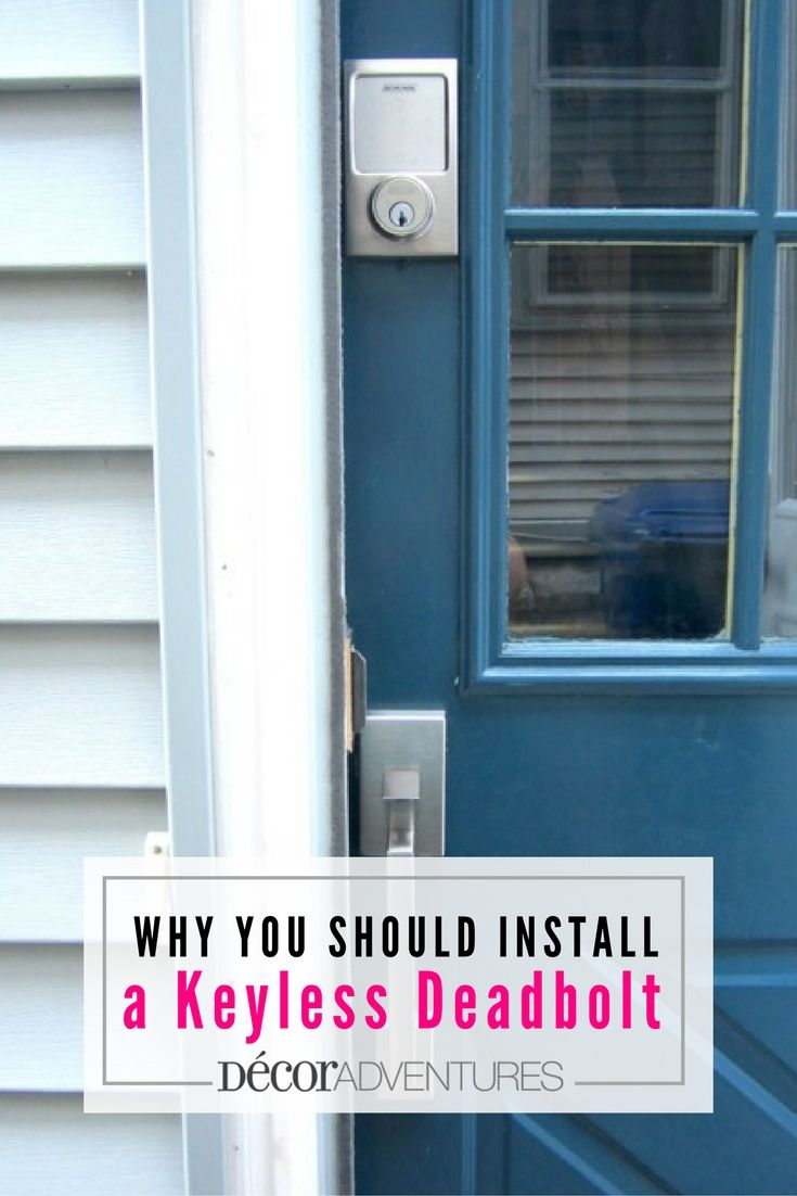 Here are simple reasons why you should install a keyless deadbolt and simplify your home life. SchlageKeylessLocks FrontDoorMakeover ad