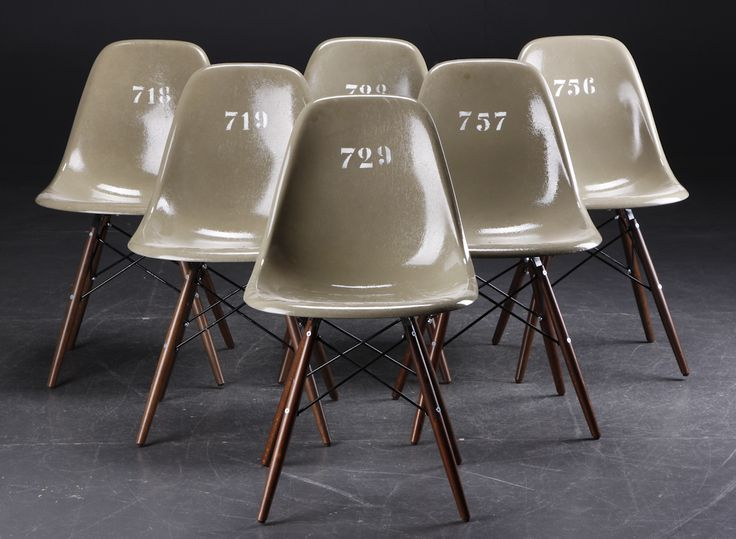 Limited edition Eames army green shell chair.