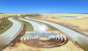 The Sahara Forest Project is a solution that combines seemingly disparate technologies – Concentrated solar power and Seawater Greenhouses – and turns them into a mean, green super-massive biomachine. The elegant system could potentially produce enough energy for all of Africa and Europe while turning one of the world's most inhospitable regions into a flourishing oasis.