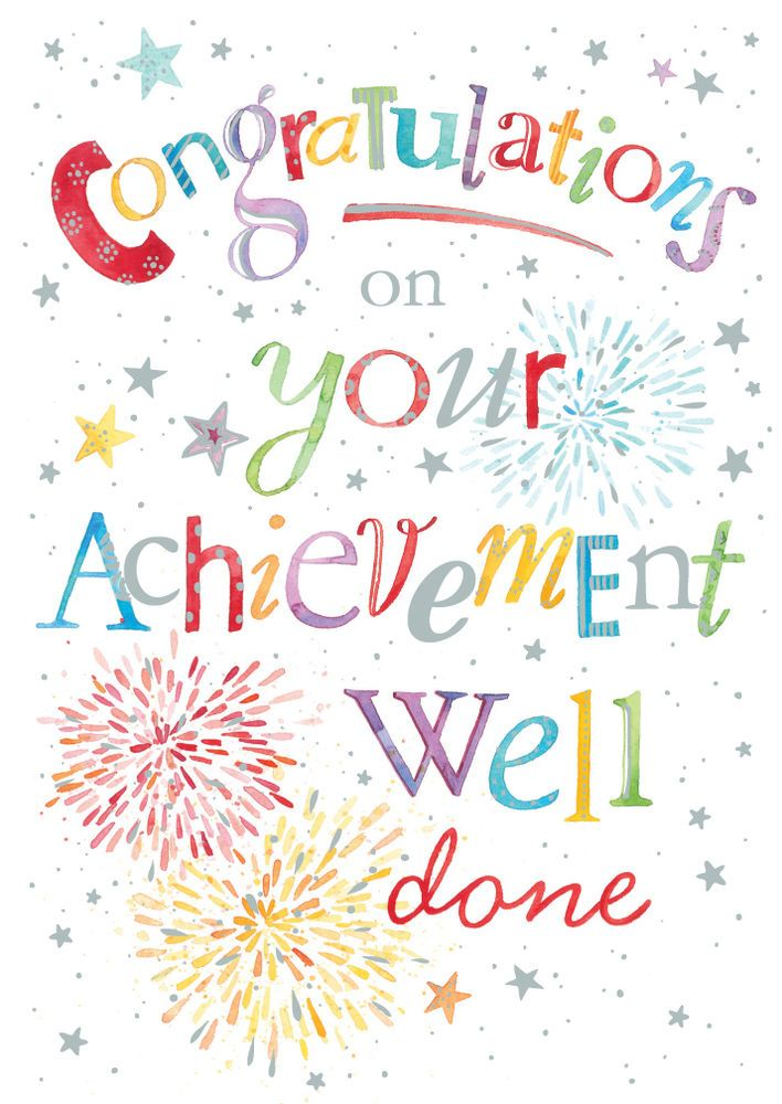 CONGRATULATIONS WELL DONE HAND FINISHED CARD SIZE 6.75  x 4.75  By Lings IC158