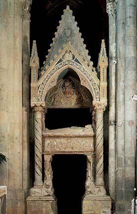 Tino di Camaino, Tomba di Caterina d'Austria, San Lorenzo Maggiore, 1324, Napoli