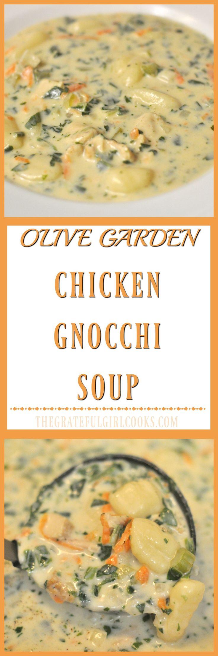 Olive Garden Chicken Gnocchi Soup / The Grateful Girl Cooks!