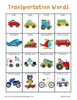 Vocabulario. Medios de transporte