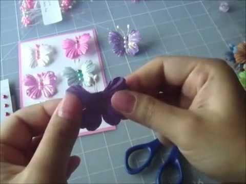 Vlinders maken van papieren bloemen. Erg leuk en snel te maken.