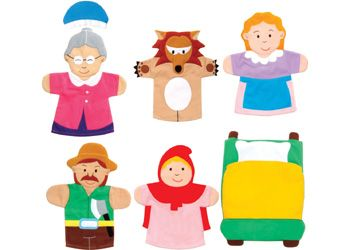 Red Riding Hood Hand Puppets - Fairy Tales & Puppets