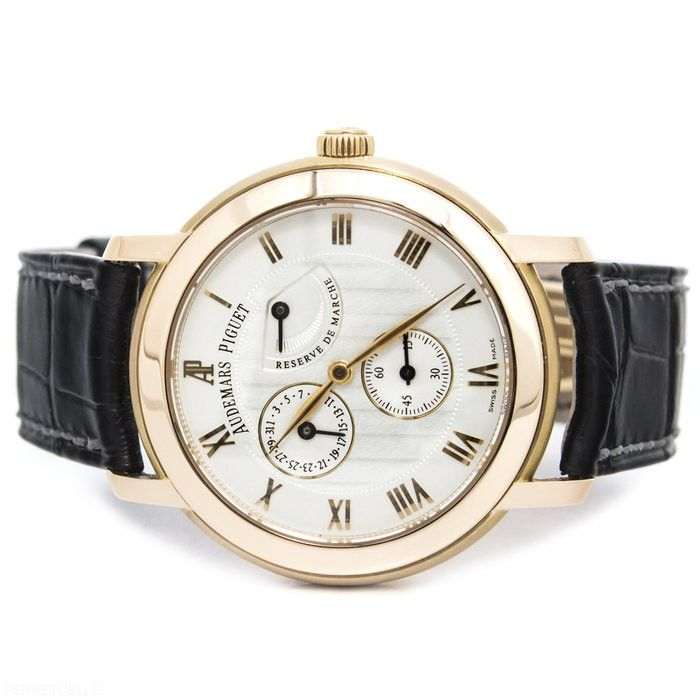 Audemars Piguet Jules Audemars power reserve rose gold watch - for sale - Govberg via Perpetuelle