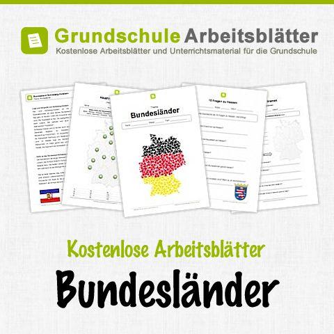 Kostenlose Arbeitsblätter und Unterrichtsmaterial für den Sachunterricht zum Thema Bundesländer in der Grundschule.