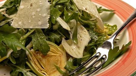 Bottarga mixes nicely with artichoke salad.