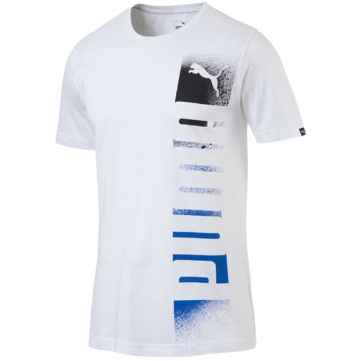 Polo de Hombre Puma Blanco / Azul brand shade logo tee