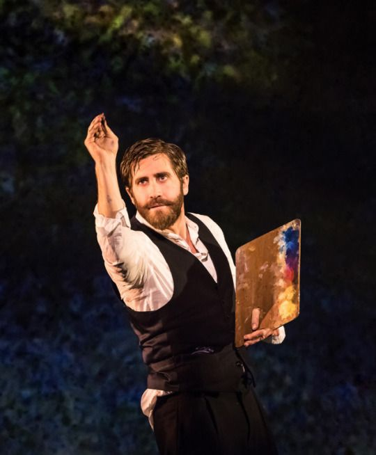 "Jake Gyllenhaal Daily = playing Georges Seurat in the Sondheim musical, ""Sunday in the Park with George"""