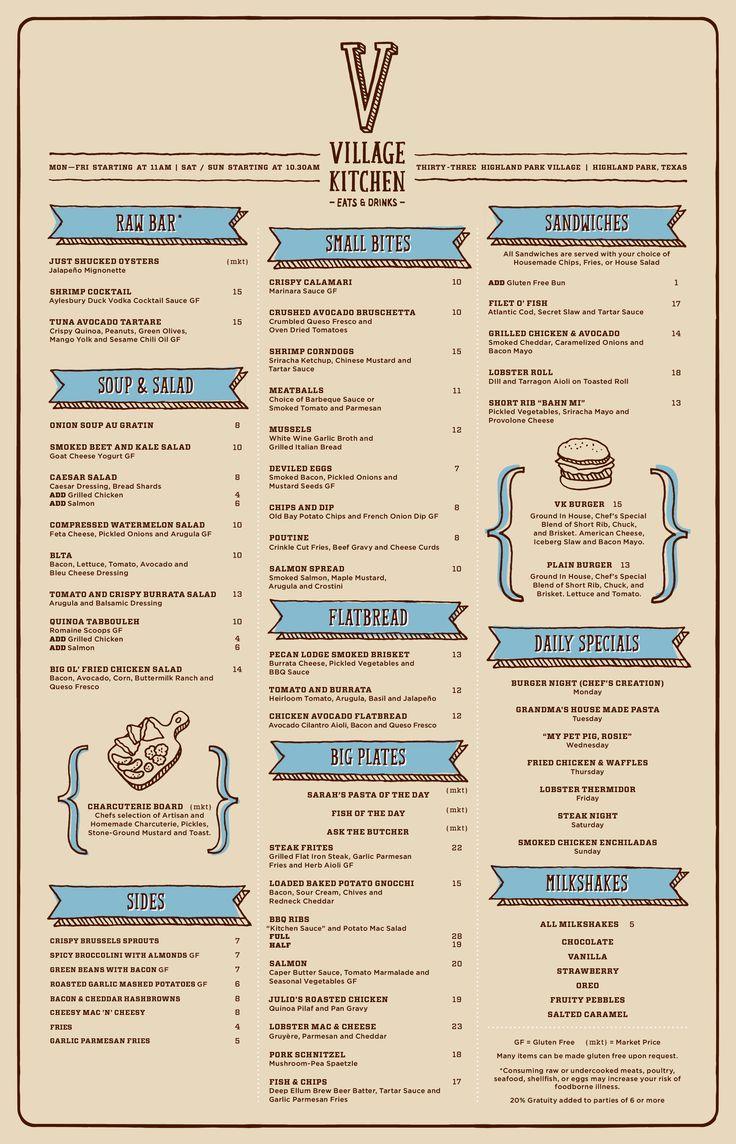 Best 300+ food menu images on Pinterest | Food menu design ...