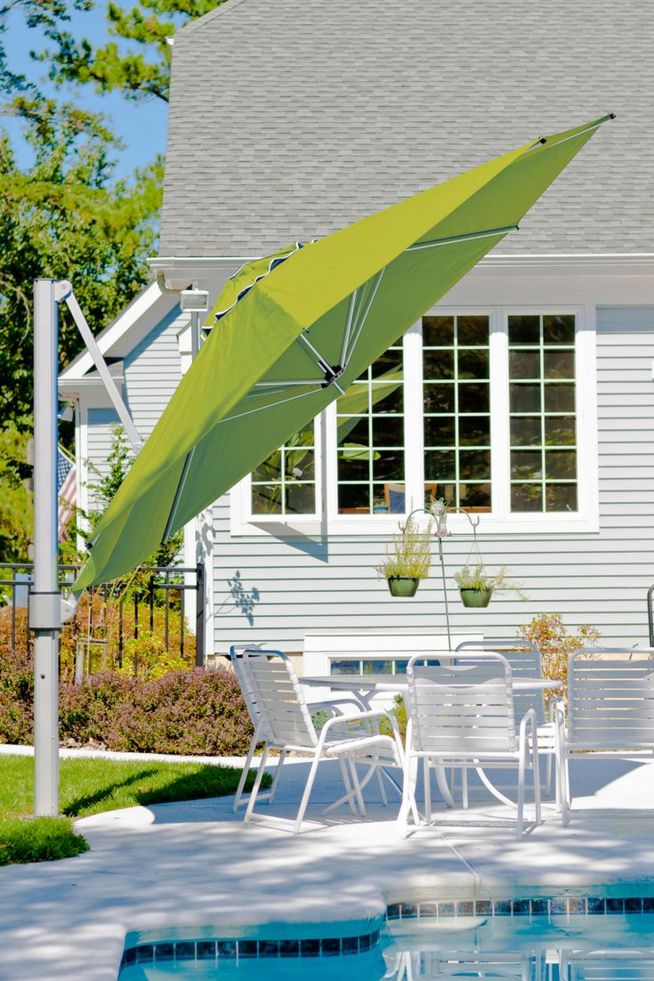 At Sticks + Stones Outdoor, we are now stocking a quality range of shade umbrellas. Umbrellas for the backyard or pool area, fixed or mobile base, and wall-mounted options available. Various colours and sizes. Our Eclipse Side Post Umbrella is commercial-grade quality cantilever umbrella with full 360 degree rotation to maximise shade coverage.#outdoor#shadeumbrella#outdoorumbrella#outdoordesign