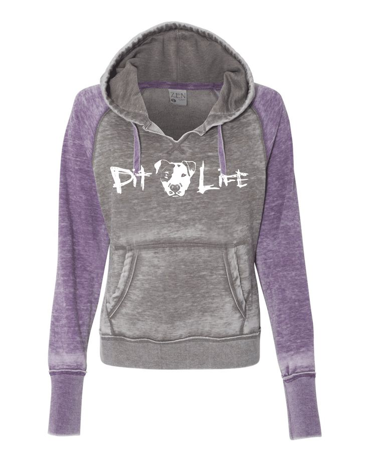 Hooded Pitbull Soft Sweatshirt - Pit Life Acid Washed Zen Fleece