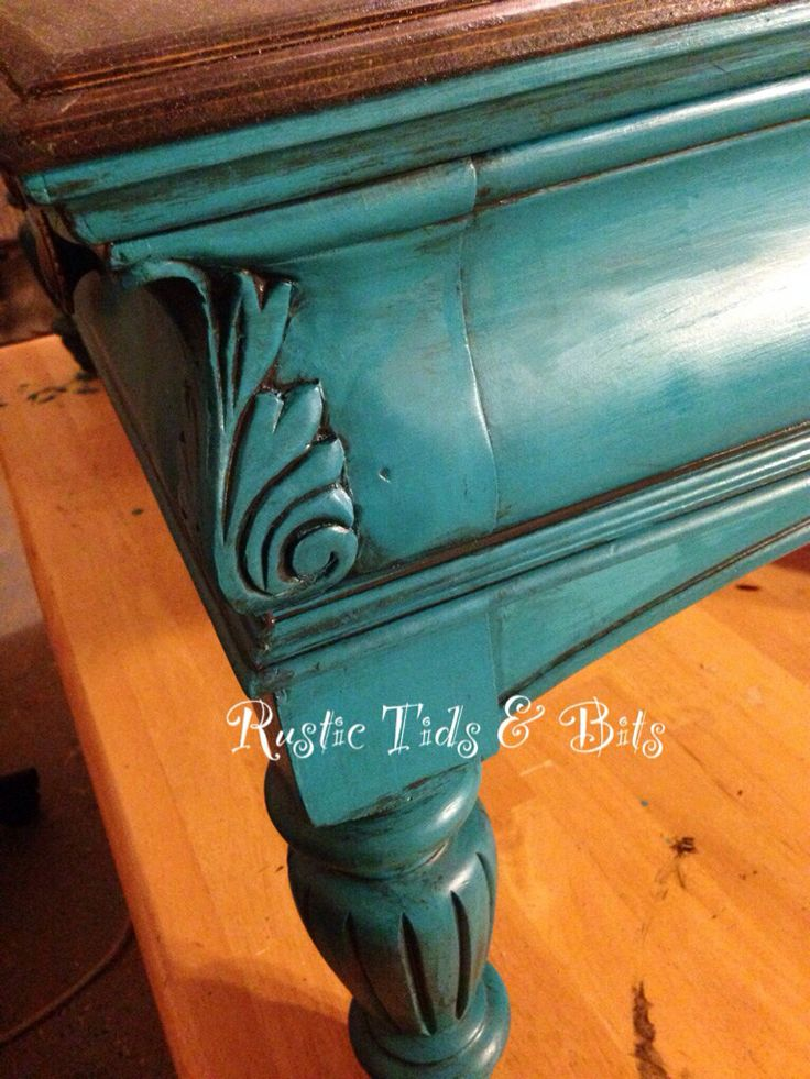 Teal coffee table