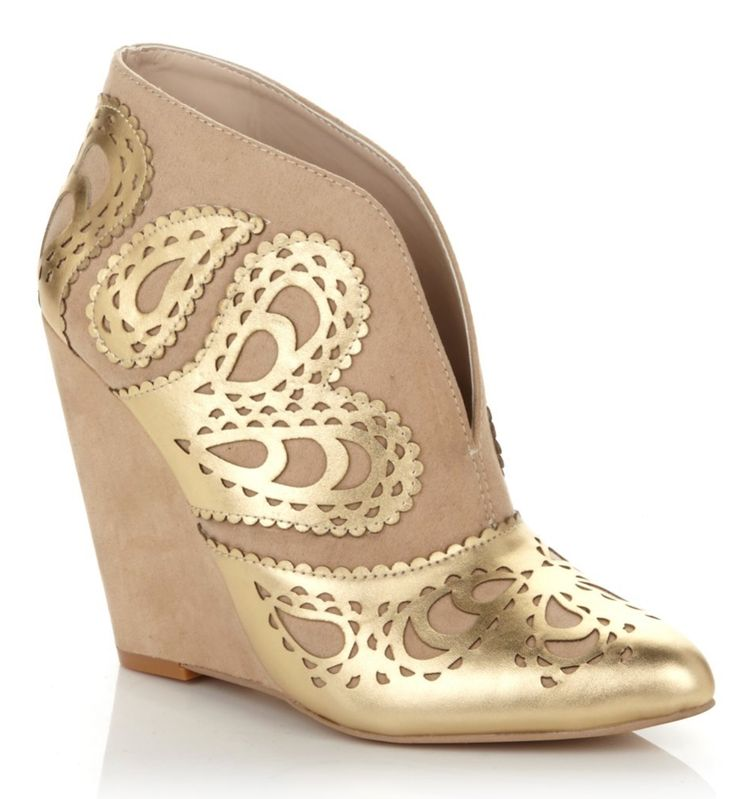 @juneambrose puts her unique spin on the bootie with this gorgeous gilded  design. We