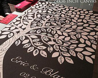 Huéspedes alternativos libro árbol invitadas libro Ideas boda