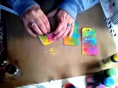 She has 4 different video's with Tim Holtz Distress Paint.  I love these videos... Check them all out
