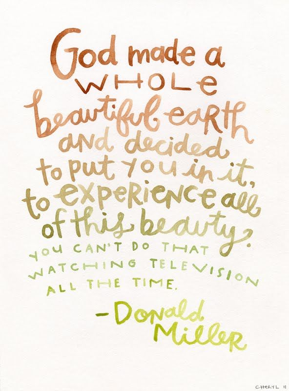 I kept going back to this line in Donald Miller's book, Through Painted Deserts, so I decided to paint it.: Donald O'Connor, God, Inspiration, Beautiful Earth, Quotes, Truth, Well Said, Donald Miller