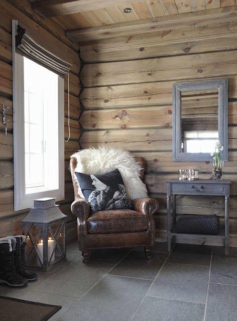 "From a Norwegian ""hytte"" (cabin)"