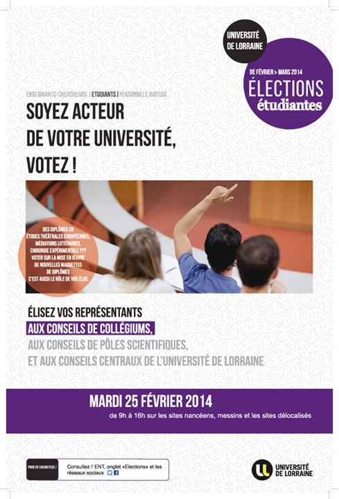 élections étudiantes, - université de Lorraine - UL