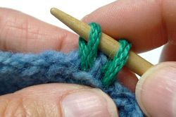 HOW TO: pick up stitches on a slipped-stitch side (row) edge (-includes explanation of slipped stitches and how they are used to create a neat edging from which it can be easier to pick up stitches).