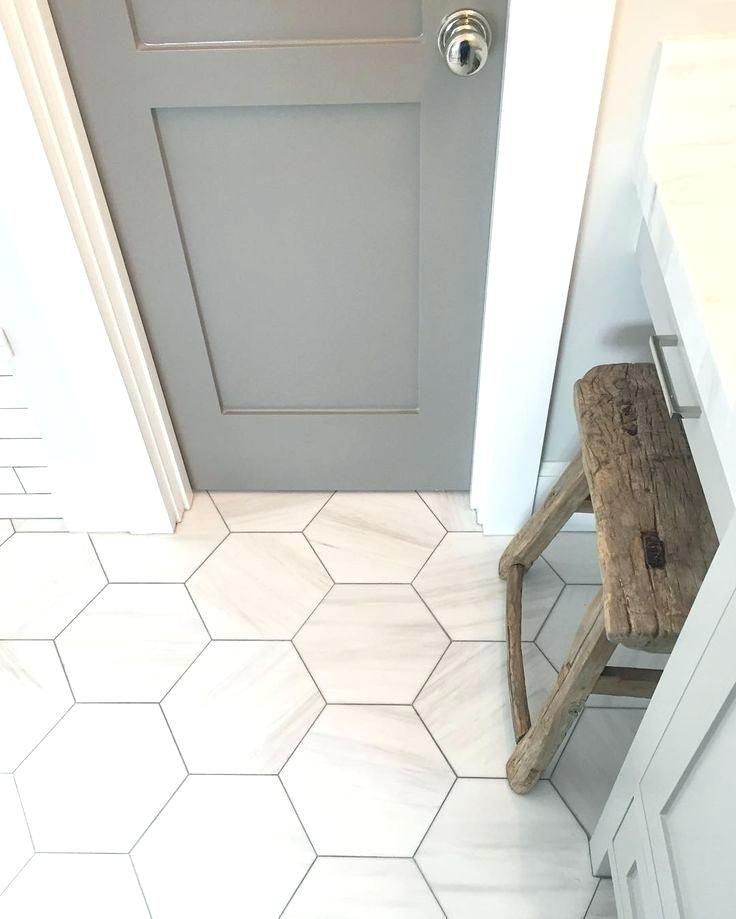 Hexagon Bathroom Tile Lowes Hexagon Tile Bathroom Floor Black Hex Tile Bathroom Floor Designandlab In 2020 Flooring Hexagon Tile Bathroom House Bathroom