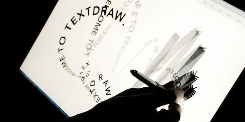 """Canada-based artist, designer and researcher Travis Kirton has come up with a prototype of two interactive text-based applications that allows the user to essentially draw with type.    Called 'TypeIs', it makes use of nonlinear and gestural typesetting to enable users to express text and poems visually by """"drawing"""" poems using words and letters as ink."""