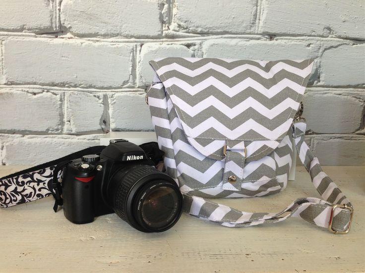 Cute Camera Bag -- Chevron Striped Camera Bag - $22.99