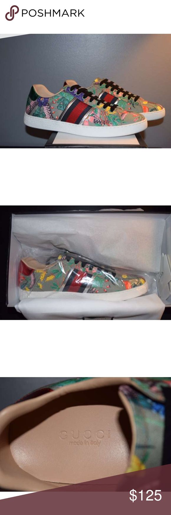 Gucci Tika  Ace Sneakers i Have sizes 6-13 Available!  Please Text me at (219) 213-6251 to see if i still have your size in stock or for more pictures Before purchase ! 100% authentic  comes with Box , Dustbags , Receipts And Carebooks price is Negotiable! Serious Inquires only! Gucci Shoes Sneakers