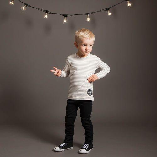POP STAR junior housut, musta