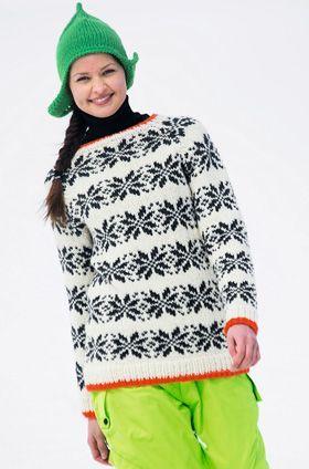 Skandinavisk sweater med farvepift
