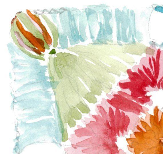 Crochet print - Flower crochet - Granny Square - Printable Art Watercolor - Granny Square Printable - Mothers day gift - Gift for her by ArtMii