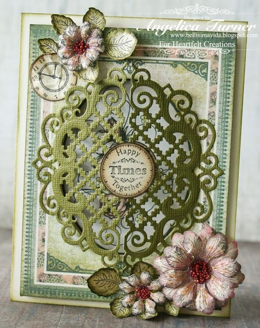 Card designed with stamps, dies and paper from Heartfelt Creations.