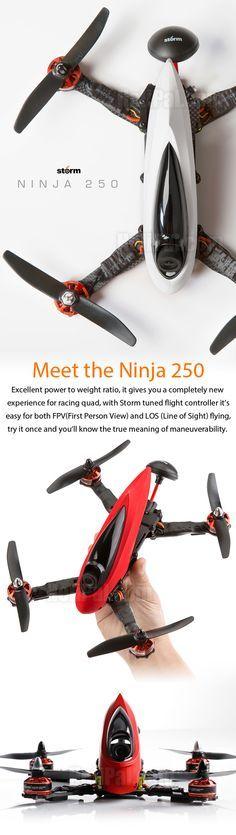 STORM Racing Drone (RTF / Ninja 250) http://www.helipal.com/storm-racing-drone-rtf-ninja-250.html