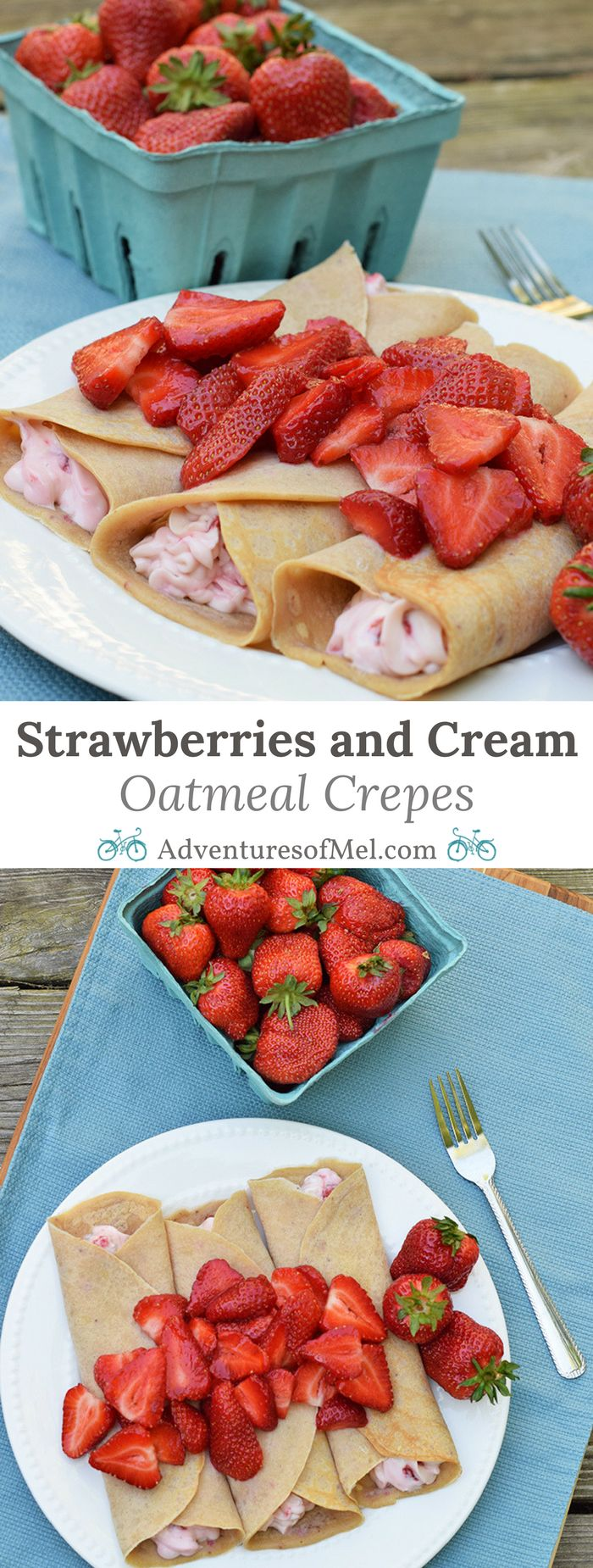 Homemade Sweet and Savory Strawberries and Cream Oatmeal Crepes, made with baby cereal, are so simple and easy to make, scrumptious too! Print the recipe for this breakfast and brunch favorite.