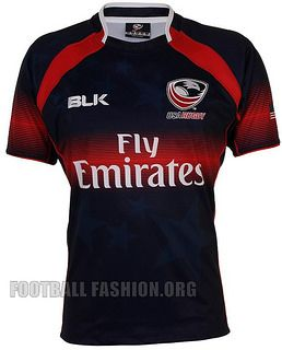 USA Rugby Sevens 7s 2014 2015 BLK Home Jersey, Shirt, Kit