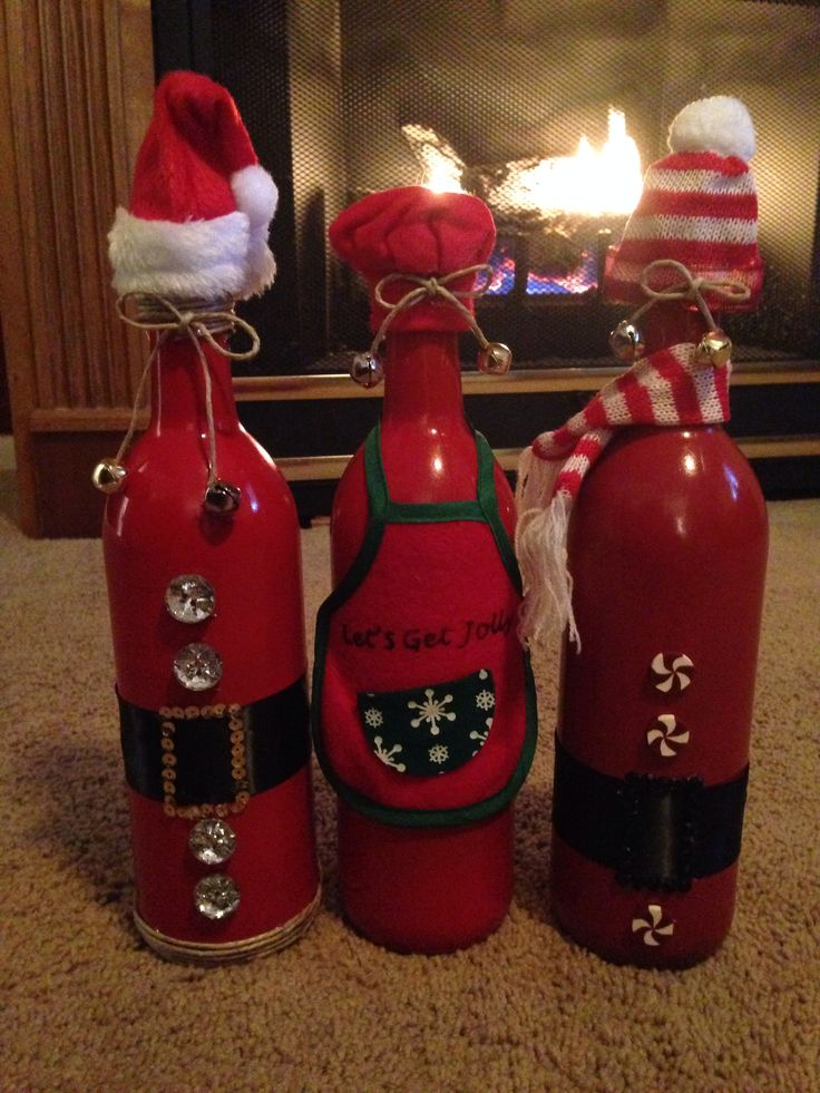 Pinterest Christmas Wine Bottle Crafts