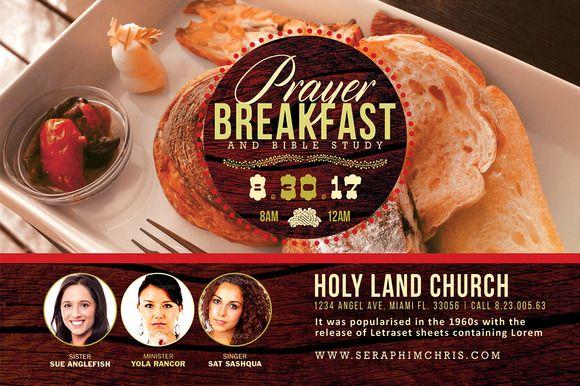 Prayer Breakfast Flyer Template Best Prayer Breakfast