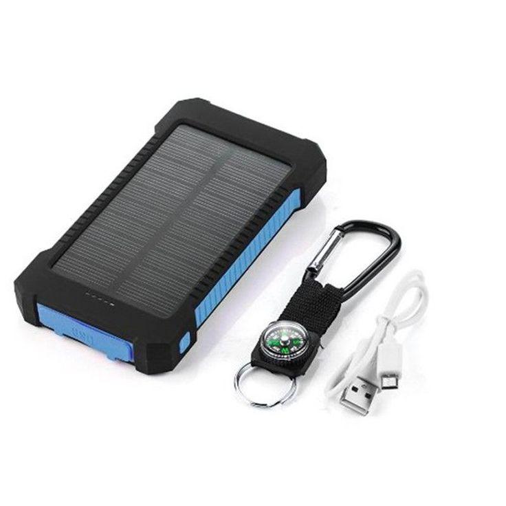 20000mAh Dual USB Waterproof Solar Powered Bank