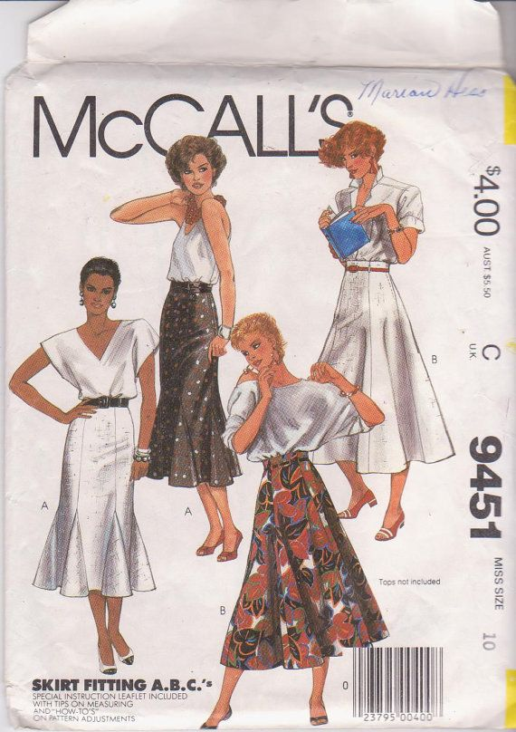 Vintage 1980s sewing pattern for fit and flare by beththebooklady, $7.99