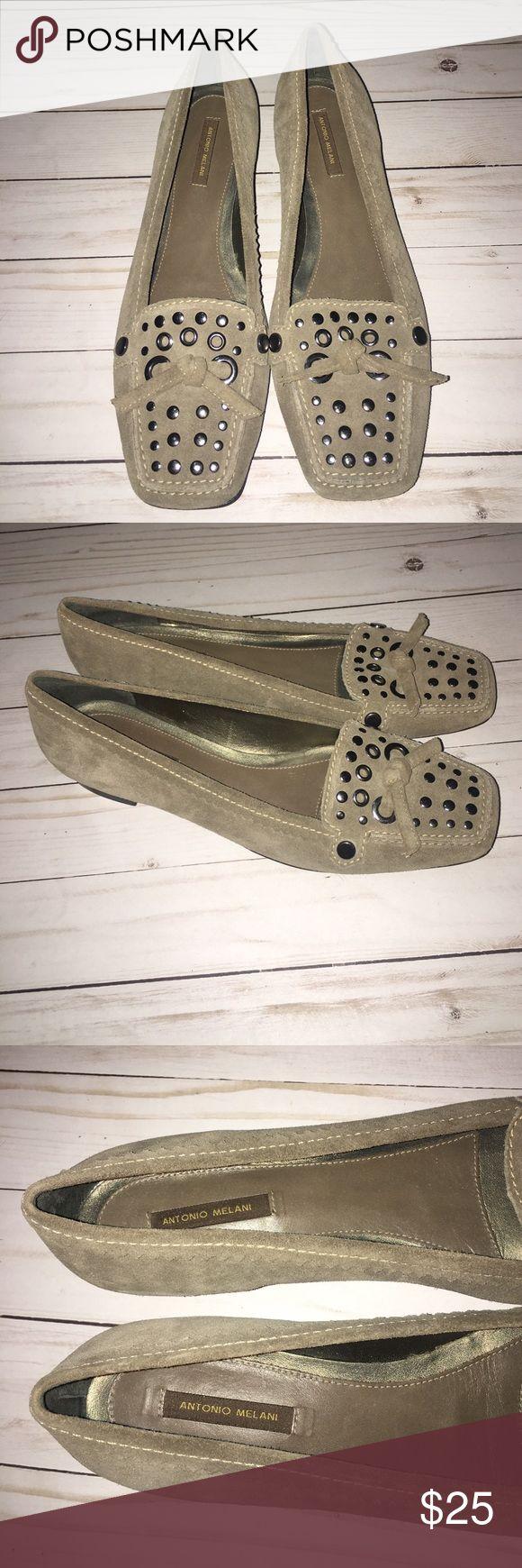Antonio Melani Katelyn Studded Loafers Flats-9M Antonio Melani flats- Studded brown size 9M ANTONIO MELANI Shoes Flats & Loafers