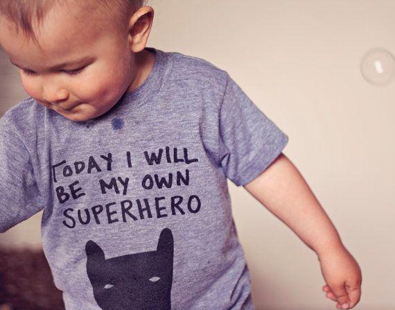 Superhero Tee, Toddler T-Shirt, Trendy Kids Clothes, Child T-Shirt, Screen Printed Shirts, Cute Clothes