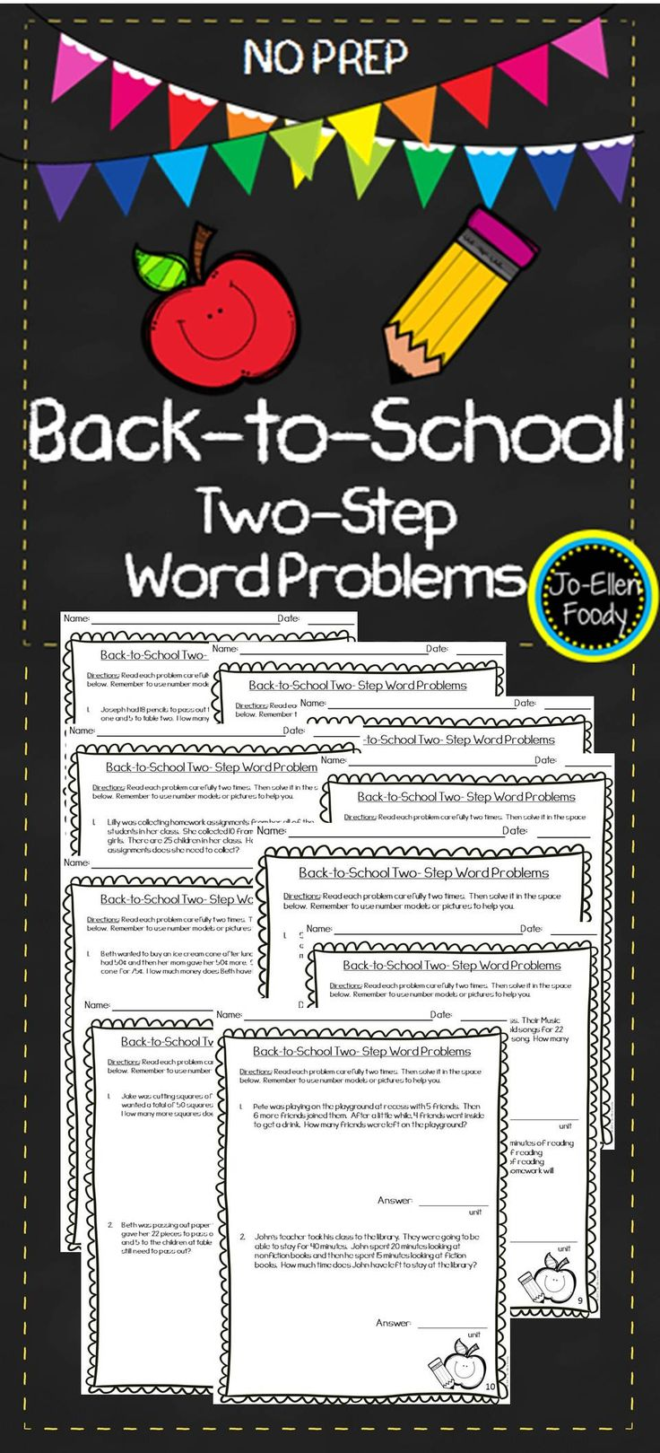 61 best homeschool math images on pinterest school homeschooling two step word problems school themed fandeluxe Image collections
