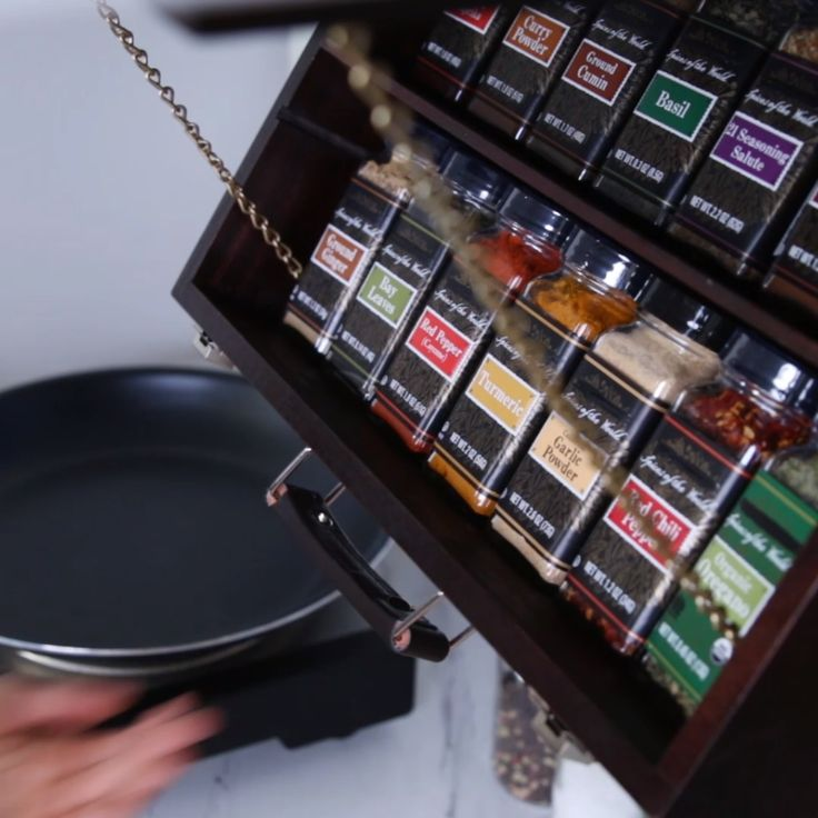 Fold-Down Spice Rack #storage #spices #organization