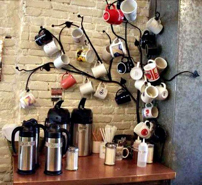 Креативные идеи хранения чашечек