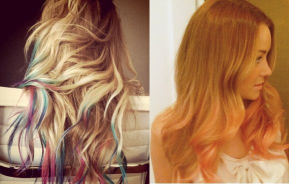 How to have dip-dye tips that wash out with one wash.