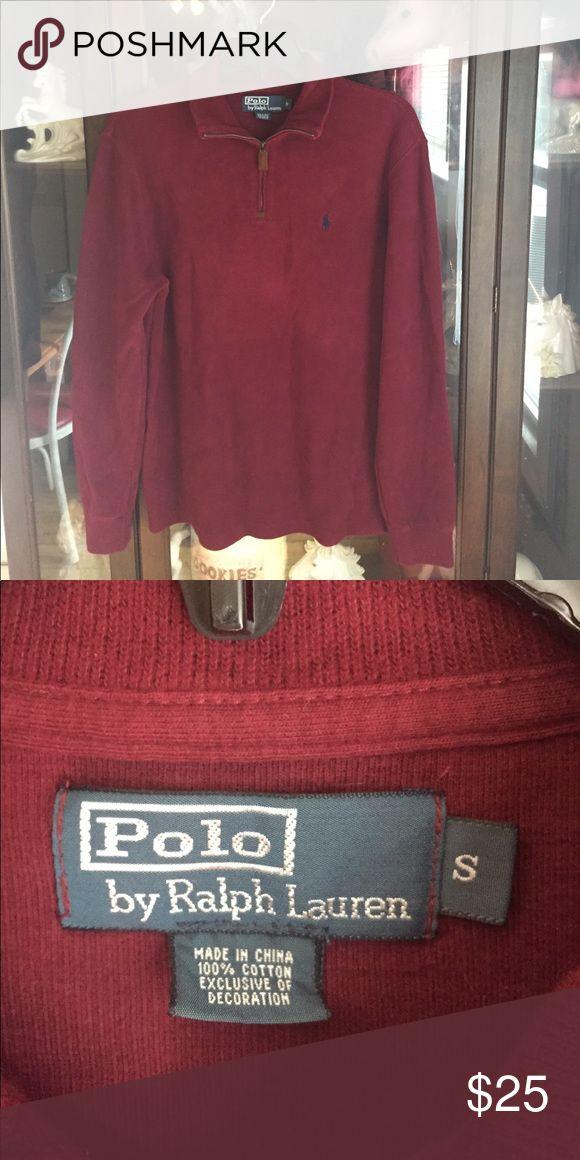 Men's Polo Ralph Lauren Burgundy Sport Pullover This item is in great shape! Polo by Ralph Lauren Shirts Sweatshirts & Hoodies