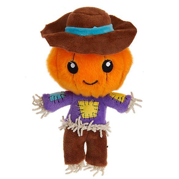 Thrills Chills Halloween Scarecrow Dog Toy Plush Squeaker