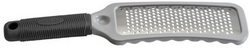 Great Grate by Hutzler. $11.99. Stainless Steel Blade. Effortless Grating. Double-Etched Razor Sharp Cutting Edge. Dishwasher Safe; Rinses clean; Non-Clogging. For Grating Cheese, Garlic, Nuts, Chocolate, Coconut, Spices; Zests Lemon, Limes, and Oranges. Truly the best grater you will ever find. Razor-sharp stainless steel blades makes grating easier than ever. Large rubbery handle allows for a firm and comfortable grip. Hard ridged frame rests on a bowl or counte...